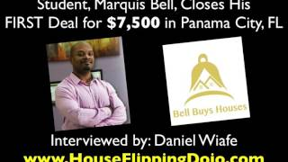 FLIPPING HOUSES - Marquis Makes $7,500 on His First Wholesale Deal!!