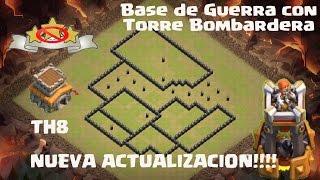 Base De Guerra TH8 anti 3 Estrellas |TORRE BOMBARDERA |Anti Dragones/GoWiPe/Gohog/ CLASH OF CLANS