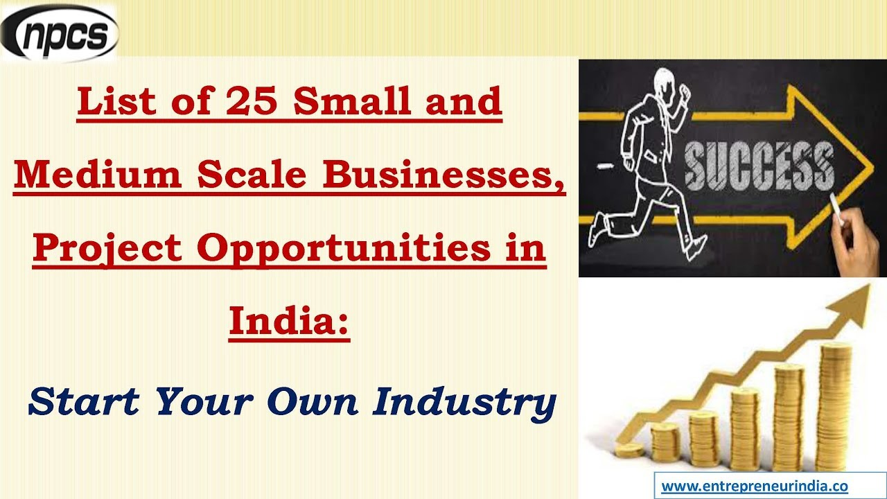 List of 25 Small and Medium Scale Businesses