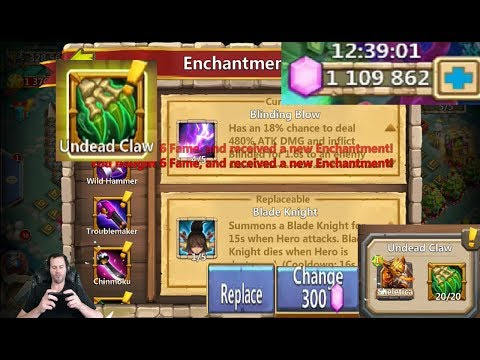 JT's Main Augmenting Skeletica Rolling Traits & Enchantment Talents Castle Clash