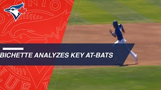 Blue Jays prospect Bichette breaks down key at-bats