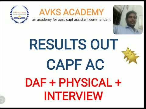NECESSARY STEPS TO FOLLOW AFTER CLEARING WRITTEN CAPF ASSISTANT COMMANDANT