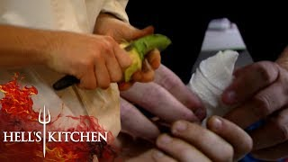 Clumsy Chef Slices His Thumb Open | Hell's Kitchen