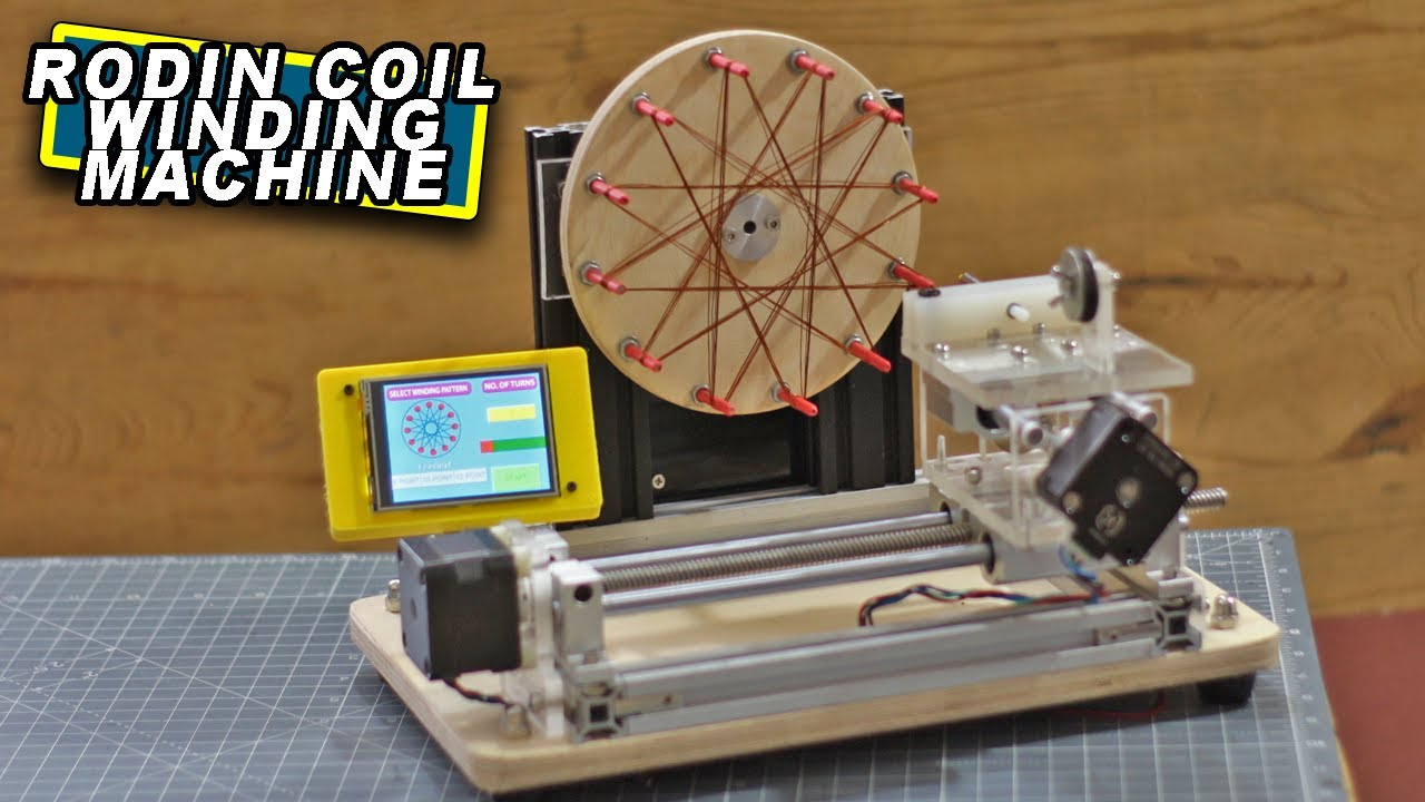 DIY Arduino based Rodin Coil Winding Machine | Starship Coil