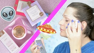 skincare: Foreo UFO test and Shimmer Freak mask first impressions