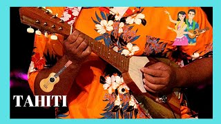TAHITI, listening to the ukulele and to Polynesian songs in the streets of Pape