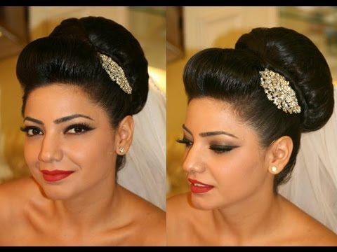 How To Style A Bridal Bun Fast And Easy Youtube
