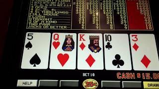 Double Double Bonus Video Poker 25 cents at The Bellagio Las Vegas