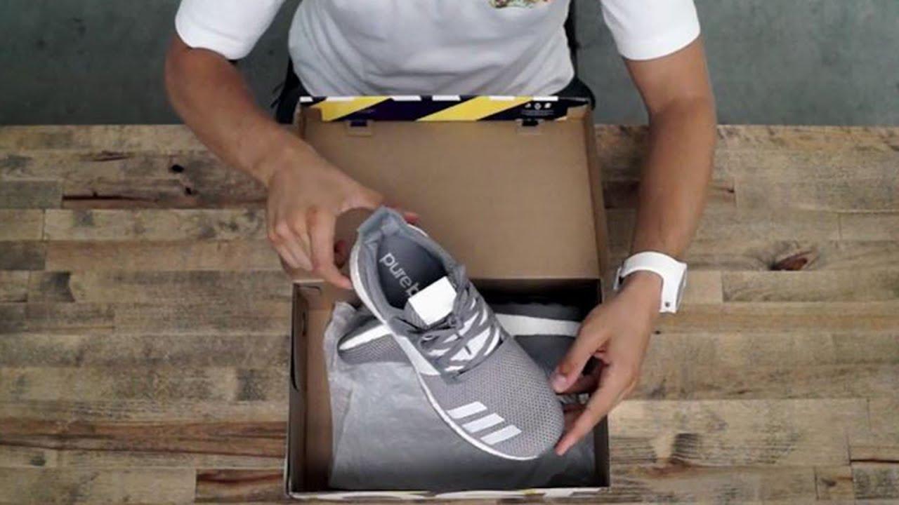9702facf1a524 adidas Pure Boost ZG Grey Quick Unboxing