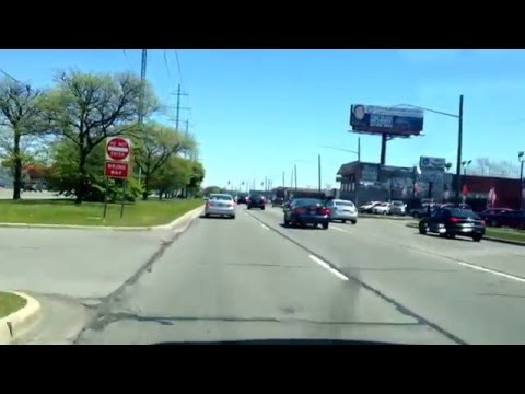Driving from Hazel Park, Michigan to Saint Clair Shores, Michigan