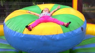 Outdoor Playground for children - we ride a roller coaster a...