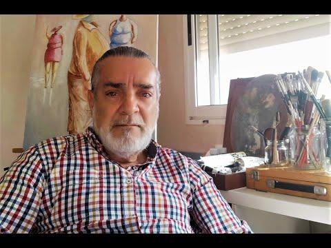 O pintor Antón Barros expón a súa obra en Monterrei