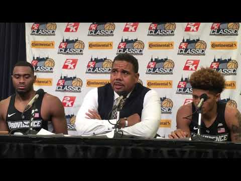 PC's Ed Cooley praising his team after winning 2K Classic