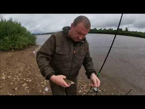 Рыбалка на фидер в конце июля на реке Вятка.