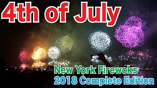 Full Show! 2018 Incredible 4th of July Fireworks New York NYC. Complete edition.