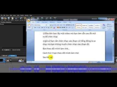 Chèn nhạc theo ý Trong Proshow Producer 5.0
