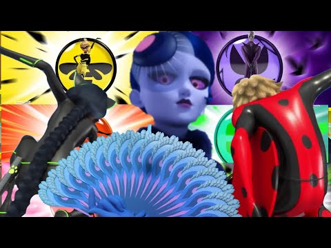 Miraculous Group Transformation With Mister Bug, Lady Noire And Mayura