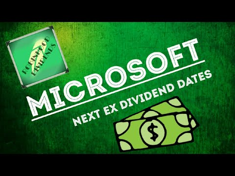 Microsoft  Next Ex Dividend Dates  Robinhood Dividends - YouTube
