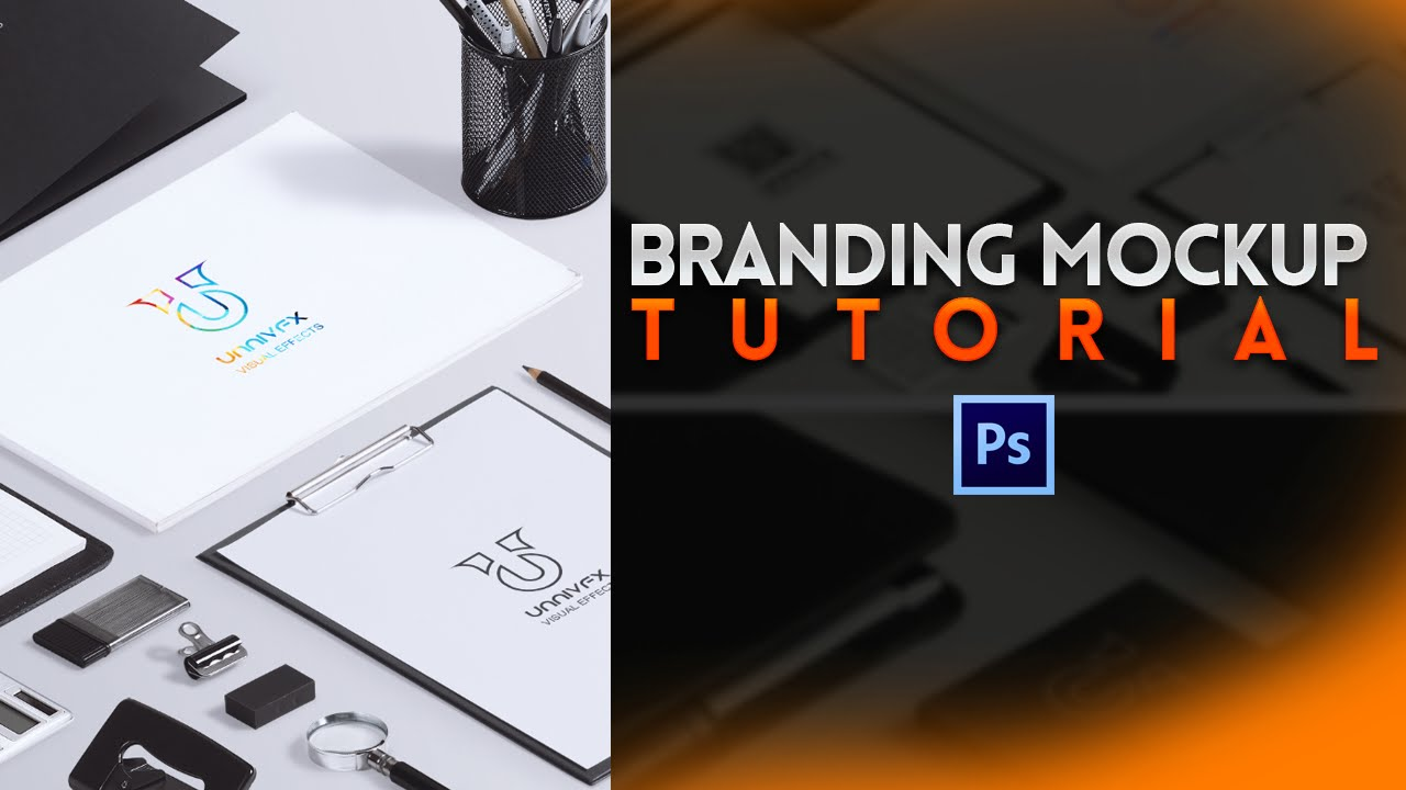 Stationery branding mock up vol 1 tutorial pixeden youtube.