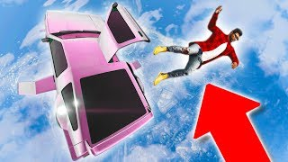 KICKING PEOPLE OUT OF MY CAR WHILE FLYING! *WORST UBER EVER!* | GTA 5 THUG LIFE #170