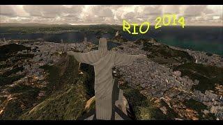 [FSX HD] AIRBUS A319 SUNSET LANDING RIO DE JANEIRO