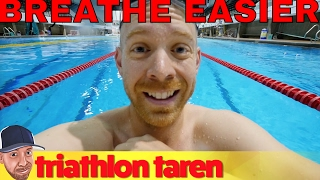 Breathe Less if you're out of Breath Triathlon Swimming