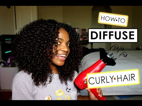 How I Diffuse My Curly Hair *NO FRIZZ*