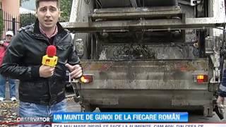 Romanii produc aproximativ 7 milioane de tone de gunoi intr-un singur an