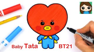 How to Draw BT21 BABY Tata | BTS V Persona
