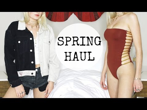 SPRING CLOTHING HAUL + TRY ON ft. Urban Outfitters