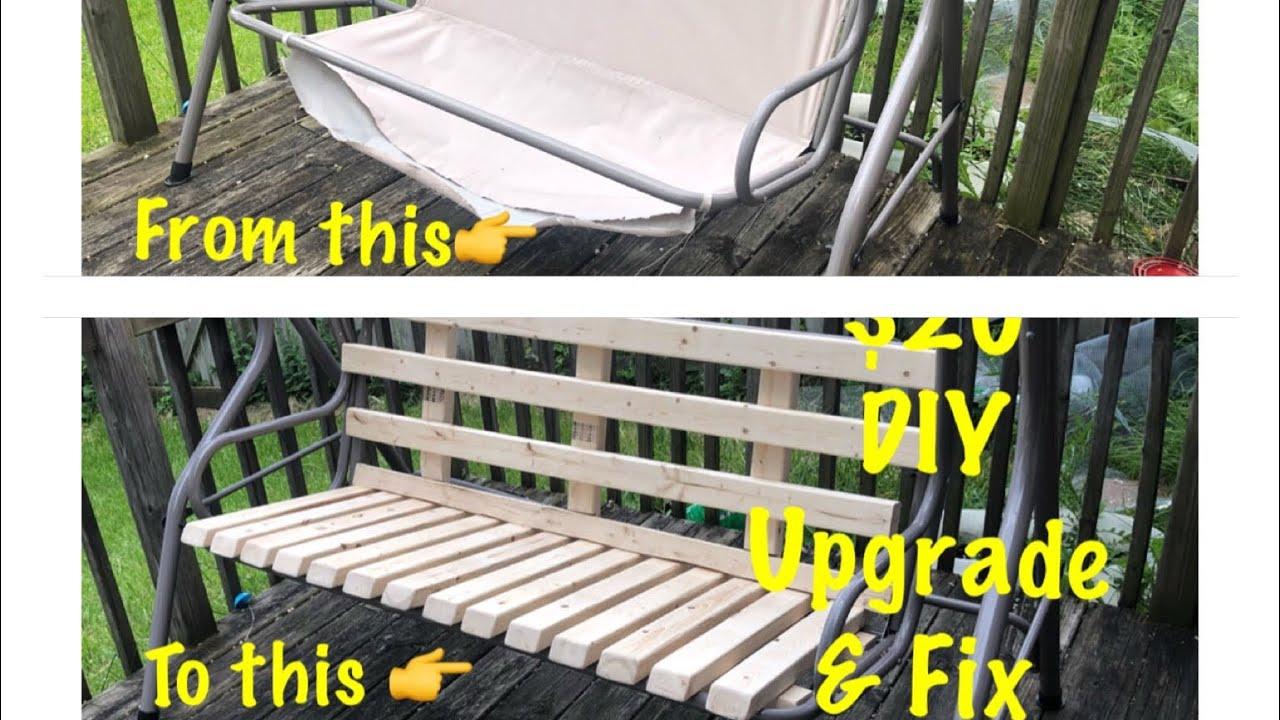 diy how to repair or fix patio swing hammock