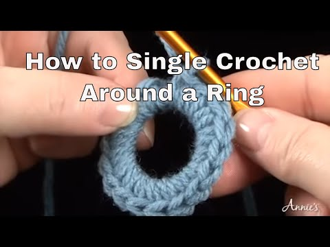 How to Single Crochet Around a Ring