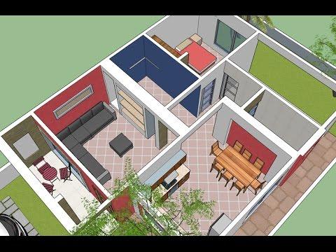 Casa simple 3d de la planta 100 m2 youtube - Progettare casa 3d gratis ...