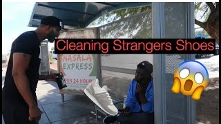 Cleaning a Strangers Shoes