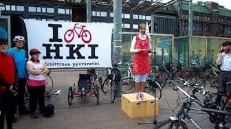 Koululaisella on oikeus pyöräillä - Kriittinen pyöräretki 13.8.2013