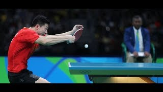 Ma Long Technique - Backhand Loop again Backspin - Table tennis Technique