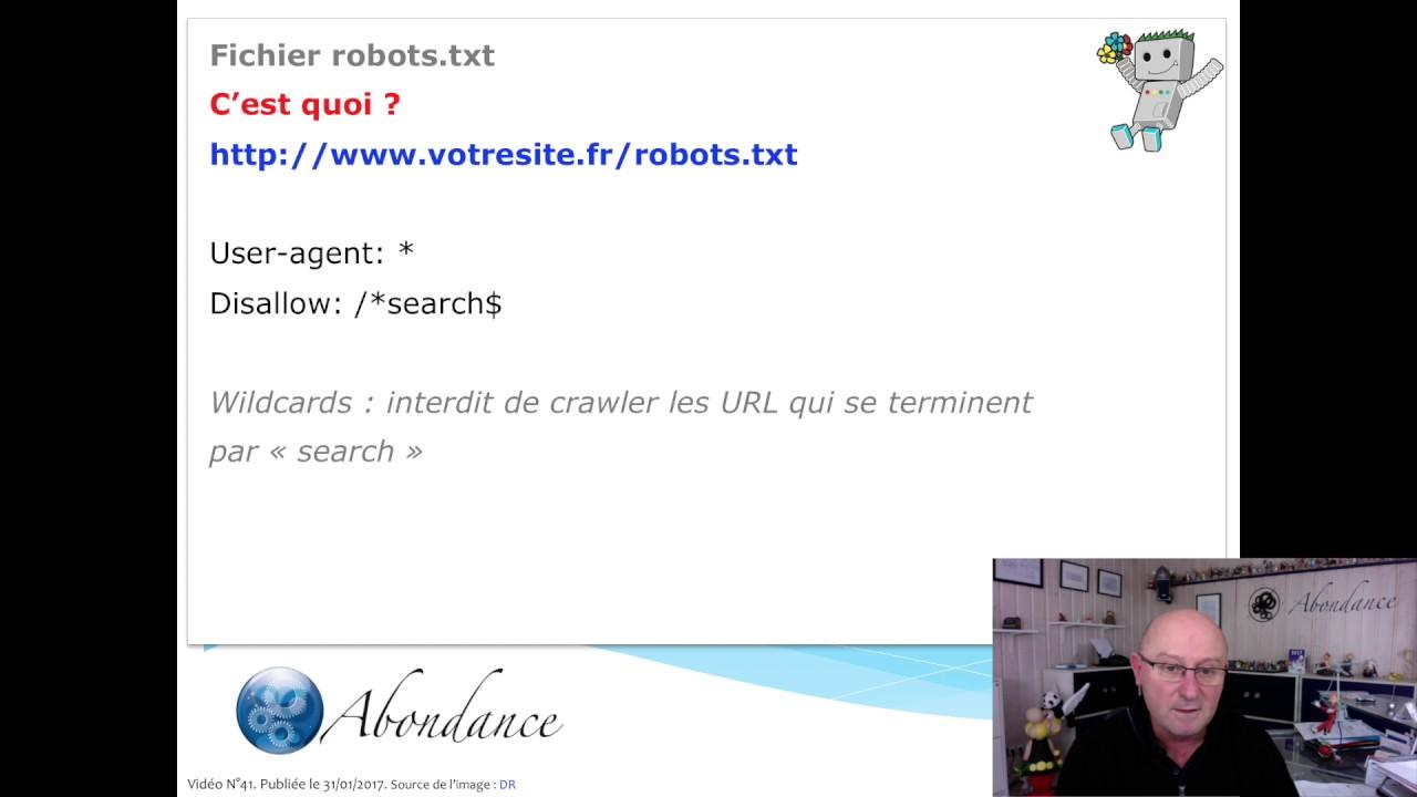 Download Robots.txt et SEO. Vidéo SEO Abondance
