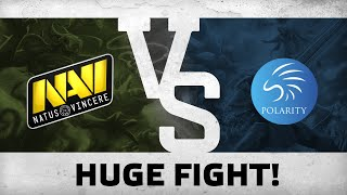 Watch first: Huge fight! by Na`Vi vs Polarity @ ESL One Frankfurt 2016