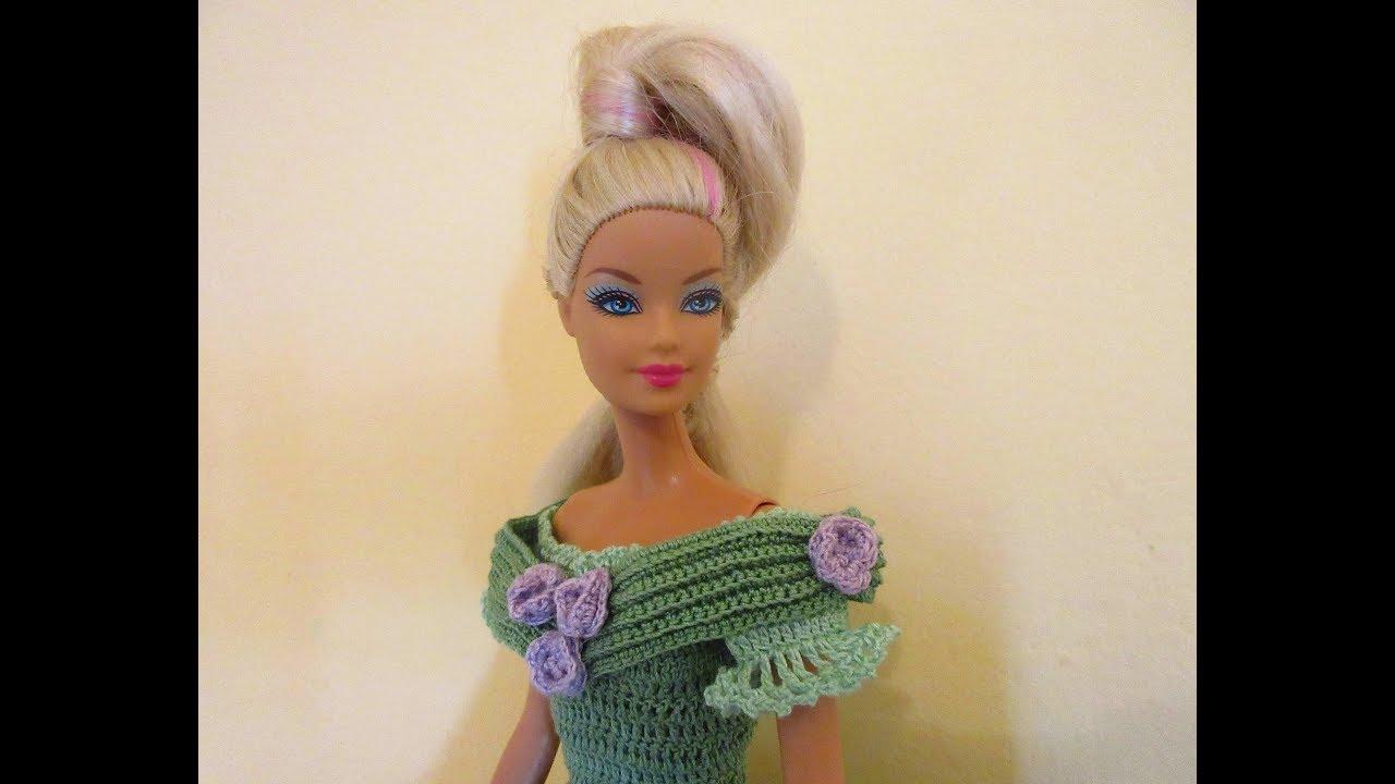 Lavori Artistici Alluncinetto Abito Barbie 10 Youtube