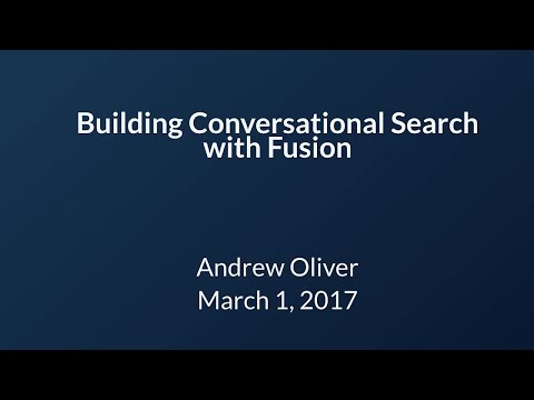 Webinar: Building Conversational Search with Fusion