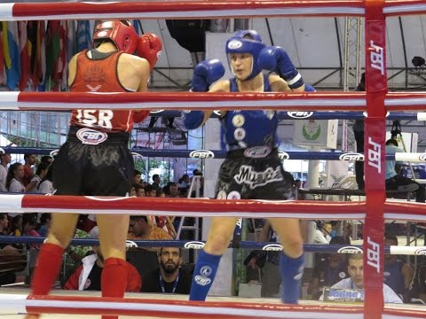 IFMA World Royal Muaythai Cup 2015. Valentina Shevchenko (PER) VS Nili Block (ISR)