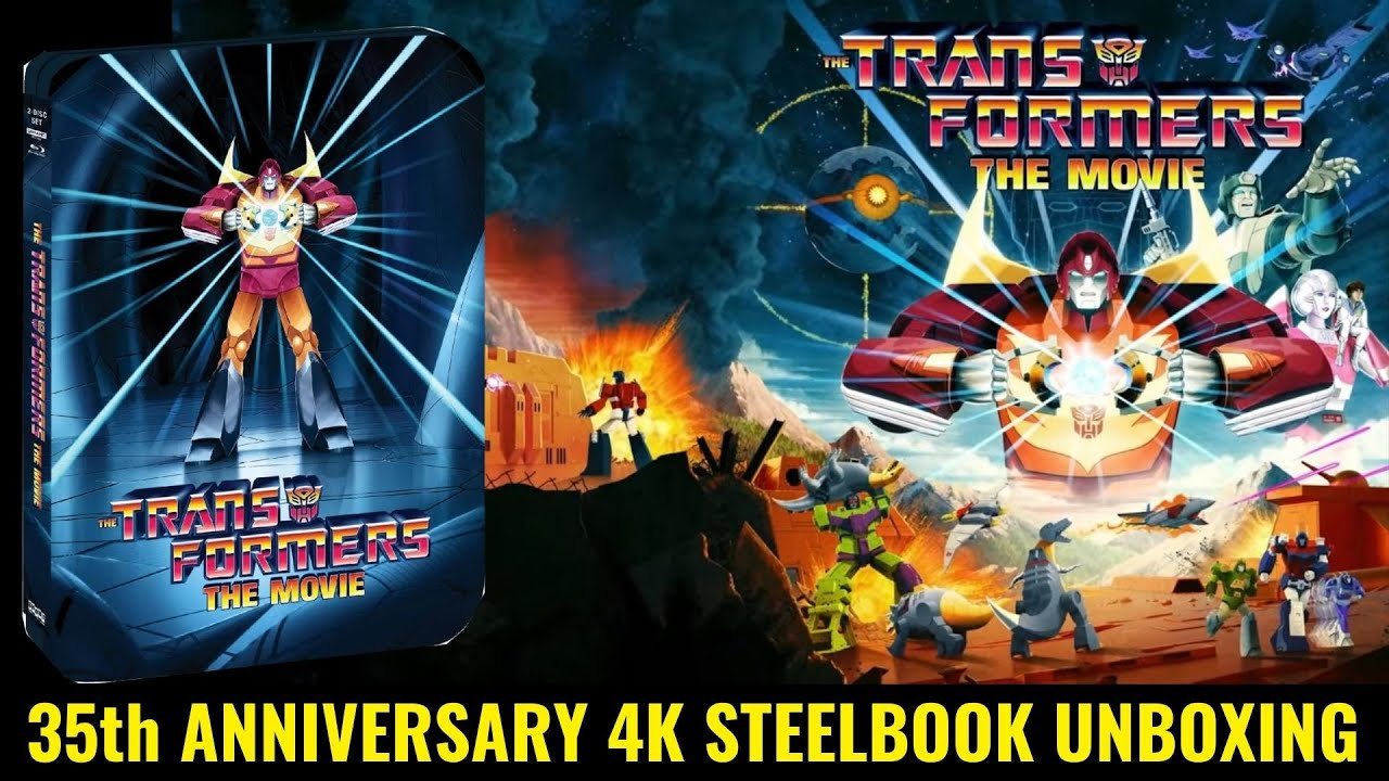 The Transformers The Movie 35th Anniversary Edition 4K Ultra HD Blu-ray Steelbook Unboxing