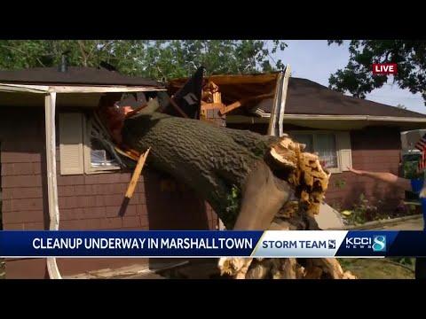 Tree Crashes Through Marshalltown Home During Monday Storm