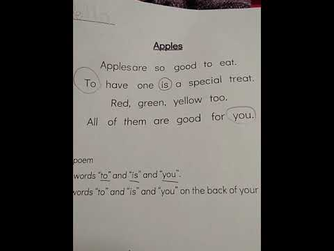 Bella's Apples Poem From Indian Mounds Elementary School