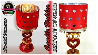 Newspaper Candle Holder | Card Board | Best out of Waste | Art with Creativity 142