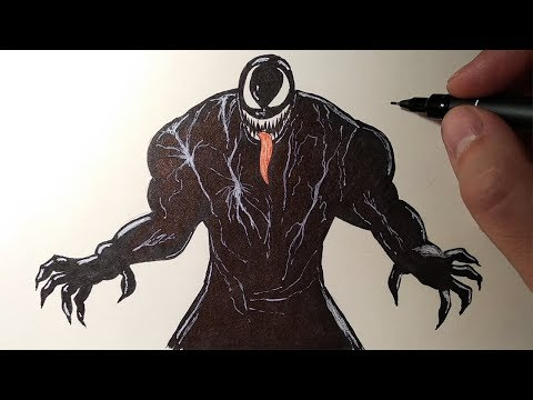 Как нарисовать венома поэтапно карандашом для начинающих