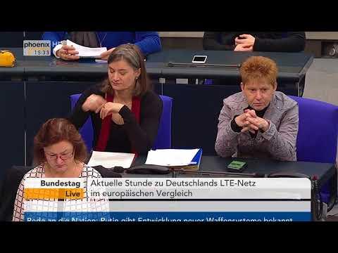 Aktuelle Stunde zu Deutschlands LTE-Netz im europäischen Vergleich am 01.03.18