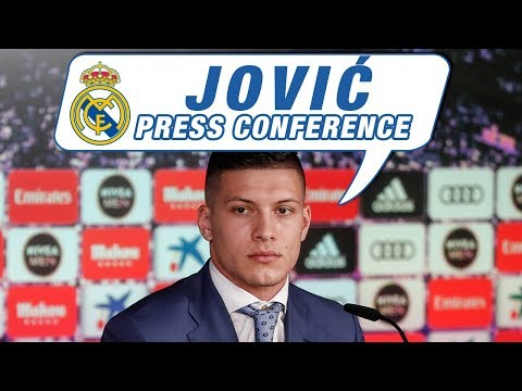 Watch: Luka Jovic's first Real Madrid press conference