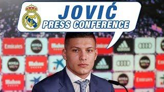 LIVE | Luka Jović's first Real Madrid press conference!