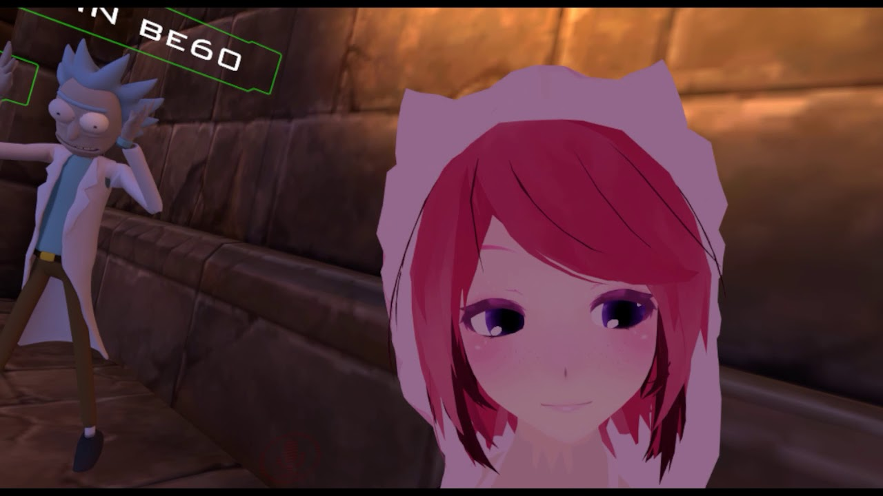 Kissing an anime girl in vr ❤ vrchat moments